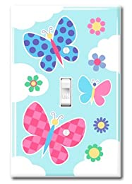 adorable girls room butterfly light switch cover