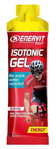 Enervit Gel isotonico sportivo, gel ad alta energia diluito con acqua, gel per corsa, gel energizzante, ciclismo