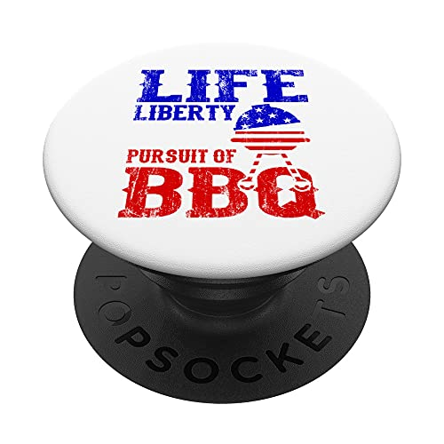 Life Liberty and the Pursuit Of BBQ Outfit Independence Day PopSockets PopGrip Intercambiabile