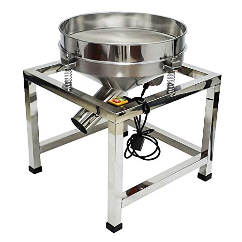 Taishi Commercial Automatic Electric Sifter Shaker Machine,Vibrating Flour Sifter with 19.6' 80 Mesh Sieve Screen for Baking Powder Grain Particles Food Industrial Processing (110V 80W)
