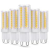JAUHOFOGEI Ampoule LED G9, 3W 420Lm, 230V, Blanc chaud 2700K, Equivalent à Ampoules 28W 33W Halogène/Incandescente 40W Lampe, Economies D'électricité, Non-dimmable, Pas de Scintillement, Lot de 5