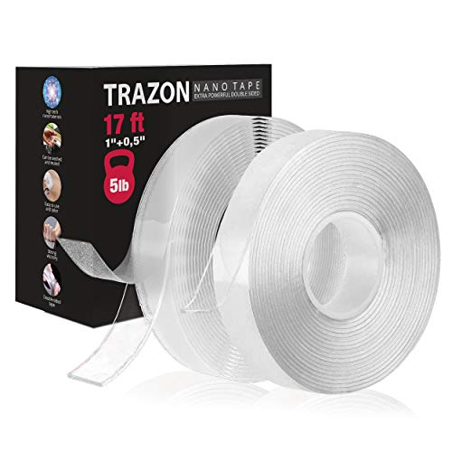 Double Sided Tape for Walls - Heavy Duty Nano Magic Tape - Strong Аdhesіvе Tape Washable and Reusable - Wall Tape for Picture Photo Carpet...
