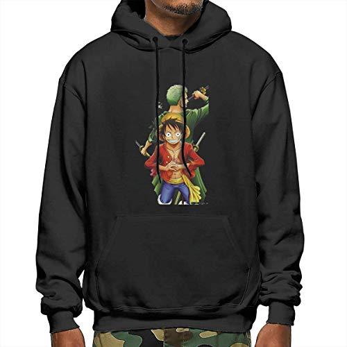 One Piece Luffy Zoro Men's Long Sleeve Pullover Hoodie Sweatshirt Kangaroo Pocket Hoodie