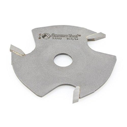 Amana Tool 53202 Slotting Cutter 3 Wing x 1-7/8 D x 5/64 CH x 5/16 Inner D