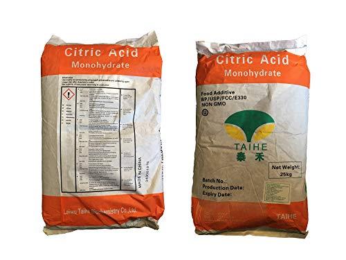 25 kg Citronensäure E330 Granulat/Griess/Pulver, Mono, Lebensmittelqualität, Entkalker, Großpackung