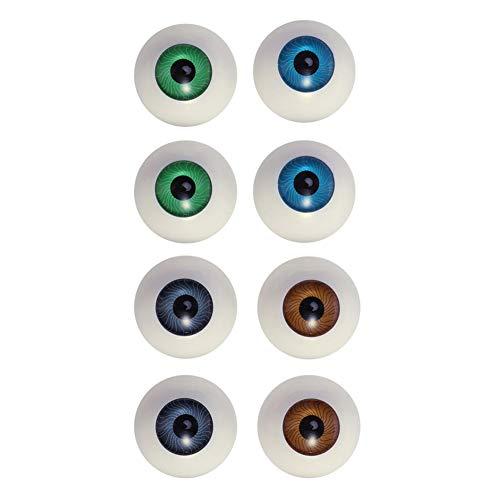 Ojos Humanos del Arte De DIY Hueco Eyeballs La Simulacin Artificial De Las Marionetas Ojos De Plstico De Halloween Props Muecas De La Mscara Que Hace 8pcs