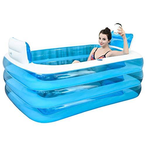 KFRSQ Zwembad Opblaasbare Zwembad Paddling Zwembaden Hot Tub voor Kinderen Opvouwbare Badkuip Thuis Volwassen Bad Barrel Body Badkamer Klein Appartement Baden Paar