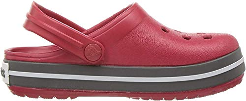 crocs Unisex-Kinder Crocband K Clogs, Rot ( Pepper / Graphit ), 27/28 EU