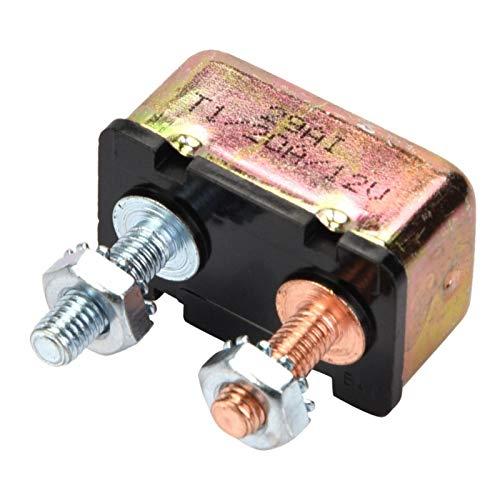 Disyuntor de reinicio, disyuntor de reinicio de fusible automático universal marino automático 12/24V con cubierta de metal(20A)