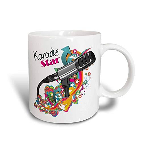 N / A Karaoke Star Singer Modern Colorful Pop Art Vector Mic...