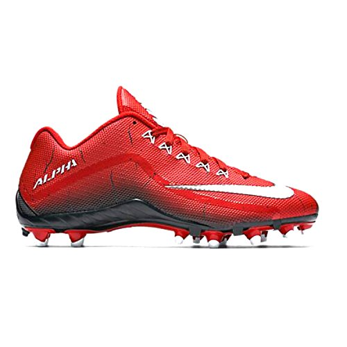 Nike Alpha Pro 2 TD Football Cleats Shoes University Red Black White Mens Size 13