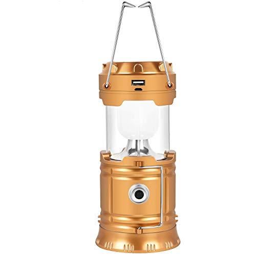 JLWDD Solar campinglamp, USB direct opladen, geschikt voor: wandelen, kamperen, noodgevallen, vissen, autoreparatie, ultraheldere leds, opvouwbaar, waterdicht, camping, lantaarn, zaklampen