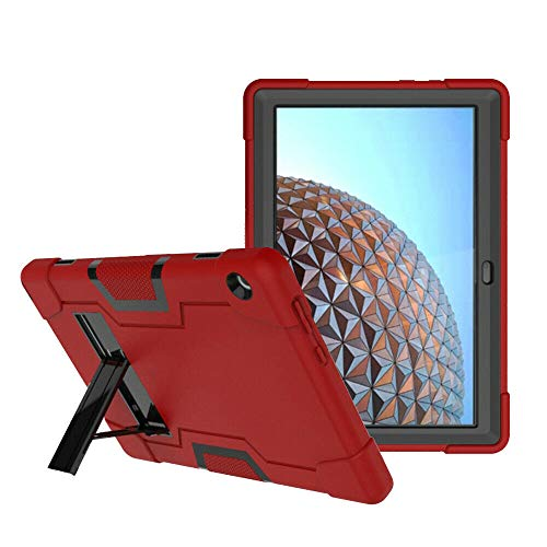 Cherrry for Lenovo Tab M10 (TB-X605F) 10.1 Inch Case,Heavy Duty Shockproof Dropproof Hybrid Rugged Armor Build in Kickstand Full Body Protective Case for Lenovo Tab M10 (Red/Black)