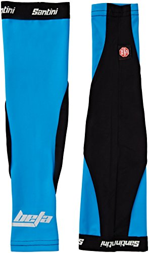 Santini Fashion Beta Wind Stopper Armlinge-türkis/schwarz, Größe XL/2 X groß