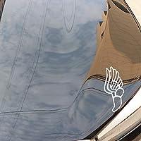 WYZJ-ファッションステッカー 車のステッカー翼脚の創造的なポリ塩化ビニールの防水日焼け止めアート窓の箱装飾的なアップリケ16.9x14cm (Color : White)