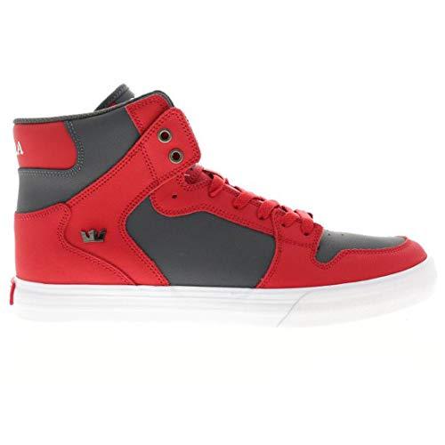 Supra Unisex-Erwachsene Vaider Hohe Sneaker, Rot (Red/Dk. Grey-White 607), 49.5 EU
