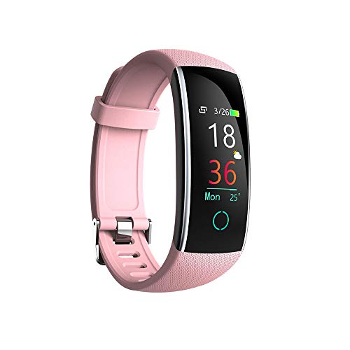 Ningz0l Fitness Tracker Smart Watch Bluetooth Heart Rate Monitor USB opladen kleur beeldscherm sport waterdichte armband roze