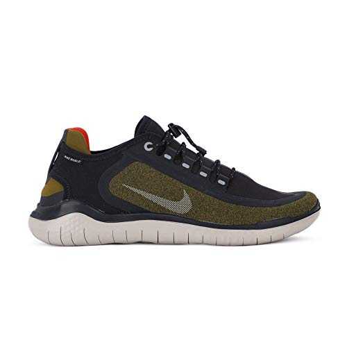 Nike Men's Free RN 2018 Shield Running Shoe Olive/Silver/Black (US 11.5)