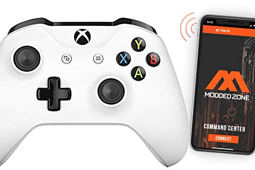White Smart Rapid Fire Custom Modded Controller for Xbox One S Mods FPS Games and More. Control and Simply Adjust Your mods via Your Phone!