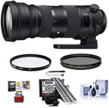 $1699 » Sigma 150-600mm F5-6.3 DG OS HSM Sport Lens for Canon EOS Cameras - Bundle with LensAlign Mk II Focus Calibration System, UV Filter, Cleaning Kit, Lens Cap Leash, CPL Filter, Mac Software Package