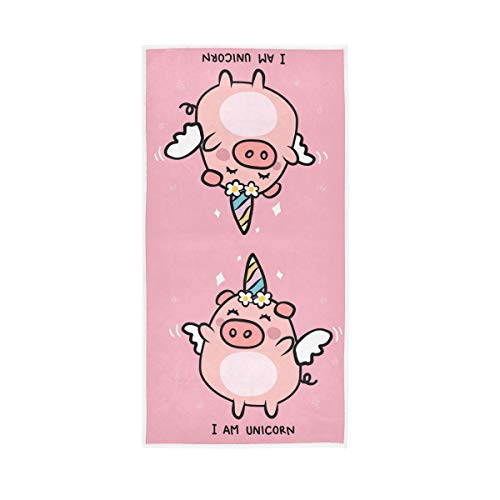 Mr.XZY Lindo unicornio cerdo toalla alas flores suave multiusos toalla 2010040