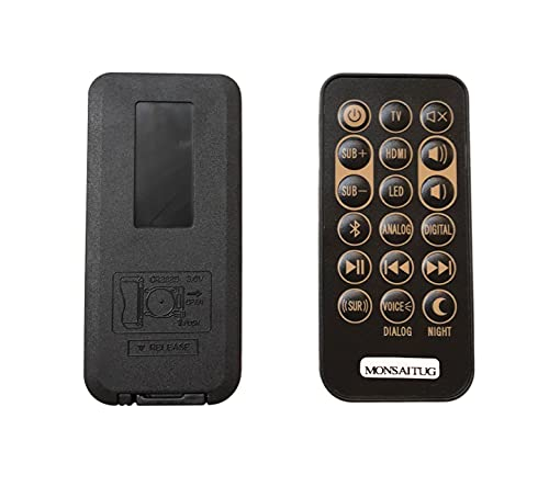 MONSIATUG Replacement Remote Control for Klipsch RSB-3 RSB-8 RSB-6 R4B...