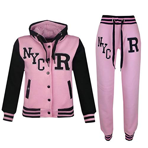 A2Z 4 Kids® Bambini Ragazze Ragazzi Baby Rosa Baseball Tuta - T.S Baseball NYC Baby Pink_11-12
