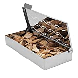 Skyflame Universal Stainless Steel Wood Chip BBQ Smoker Box for Charcoal & Gas Grill - Gift For Griller - Indoor & Outdoor Use