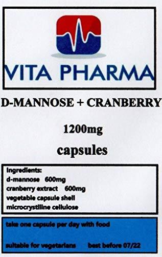 D-MANNOSE und Cranberry 1200 mg, 240 Kapseln, 8 Monate Vorrät, nehmen Sie einen täglich, hergestellt in Großbritannien, bestellen Sie noch heute.