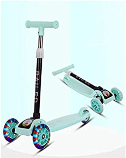 Folding Scooter Flash Wheel Children 3-8 Years Outdoor Toys Baby Tricycle Wheels Kid Bike Slide Ride On Toy with led