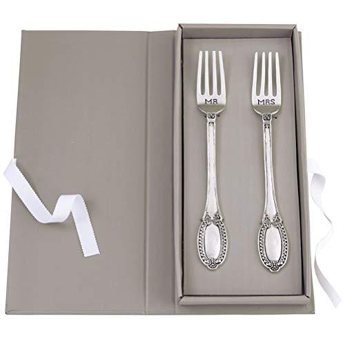Mud Pie Mr. & Mrs. Wedding Fork Set