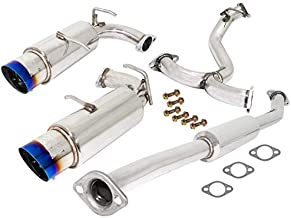 AJP Distributors Jdm Dual Catback Exhaust Muffler Burnt Burn Tip System Stainless Steel Piping Pipe For 2013 2014 2015 2016 13 14 15 16 Toyota Scion Subaru Frs Brz 86 Gt86