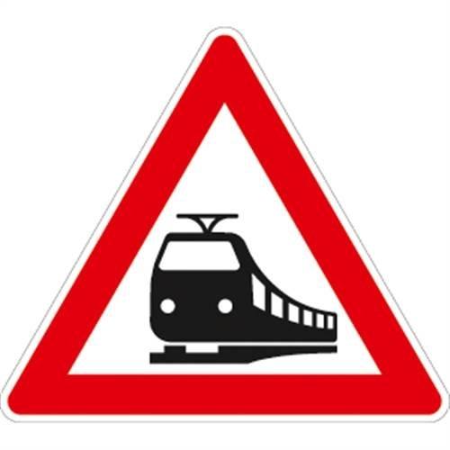 Verkehrszeichen VZ151, Bahnübergang, Alu, RA1, 90cm SL Verkehrsschild
