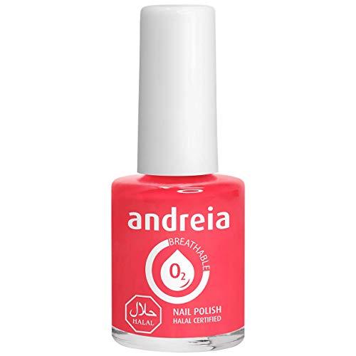 Andreia Halal Esmalte de Uñas Transpirable - Permeable Al Agua - Color B16 Coral - Sombras de Rosa | 10,5 ml