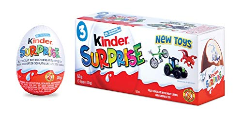 Kinder Surprise Chocolate Eggs with Toys, Classic, 3 Count, 60 grams (20gx3)