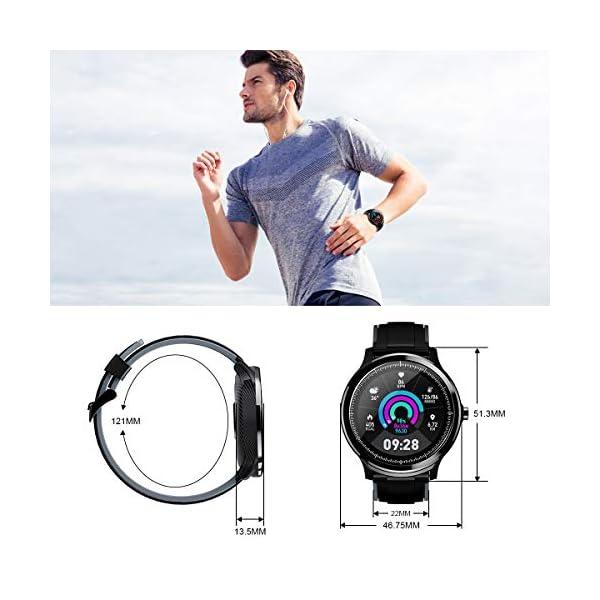 GOKOO Bluetooth Smartwatch Hombre Reloj Inteligente Fitness IP68 Impermeable Actividad Monitor Pulsómetro Compatible con… 9