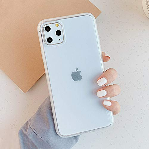 AAA&LIU Funda de teléfono Transparente de Color Caramelo para iPhone 12 11Pro MAX XS MAX X XR 8 7 6S 6 Plus Funda de Silicona con Espejo antigolpes, Transparente, para iPhone 11Pro MAX
