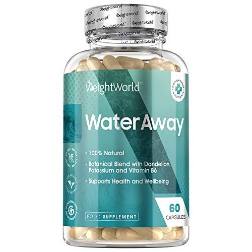 Water Away Kapseln Entwässerungstabletten - Wassertabletten für Frauen und Männer - Diuretika zur natürlichen Entwässerung - Laborgeprüft in Deutschland - 60 Kapseln Vegan - Von WeightWorld