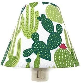 Cactus Night Light - Cactus Nursery Decor - Southwestern Bedroom - Green White