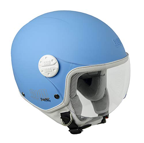 CGM 205A Blau Matt (YL) Helm für Kinder (Havana)