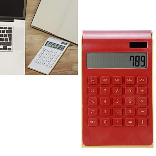 Fournyaa Calcolatrice finanziaria Portatile, calcolatrice Solare, Affari per finanza Domestica Destop-Use School Office(Red)