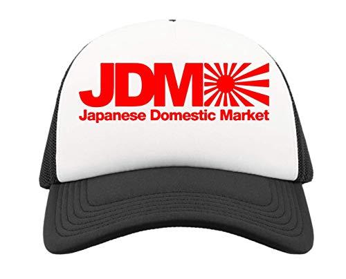 Generic JDM Japanese Domestic Market Rising Sun Flag Graph Half Mesh Trucker Cap Baseball Hut Snapback One Size
