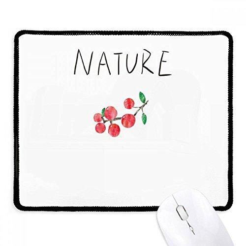 Rode Fruit Plant Soloisland Schilderij Mousepad Zwart Gestikte Rand Mat Niet Slip Game