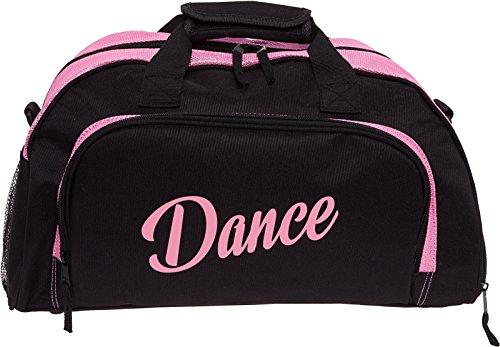 Silver Lilly Womens Nylon Dance Duffel Gym Bag w/Shoe Compartment