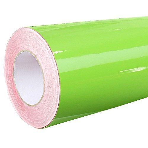 Rapid Teck® 4,75€/m² Glanz Folie - 063 Lind Gruen - Klebefolie - 5m x 63cm - Folie selbstklebend - Plotterfolie - auch als Moebelfolie