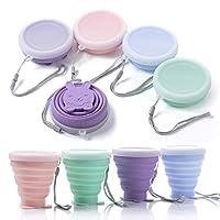 xiyee coppa pieghevole, set di 4 tazza pieghevole retrattile portabile a livello alimentare silicone outdoor tazza per viaggio, campeggio, escursionismo e al lavoro,risparmio spazio (b)