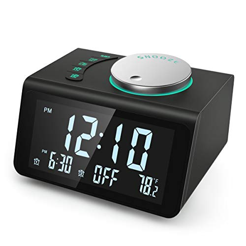 【2021 Newest】 ANJANK Small Digital Alarm...