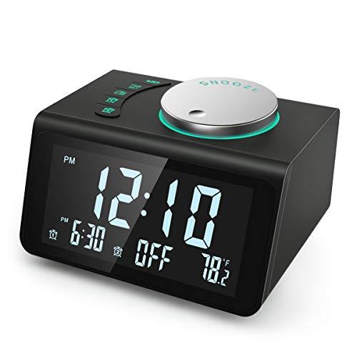 【2021 Newest】 ANJANK Small Digital Alarm...