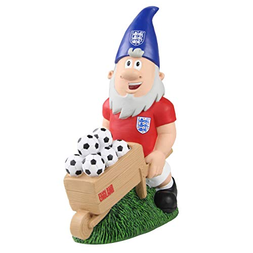 """Forever Collectibles UK EPL ENGLAND FA WHEELBARROW GARDEN GNOME 10.5"""" ORNAMENT INDOOR/OUTDOOR"""