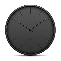 Huygens - Tone45 - Silent - Wall Clock - Black - Index - Large - Ø45 cm - HU16302